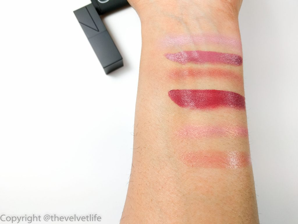 Nars Love Triangles review swatches