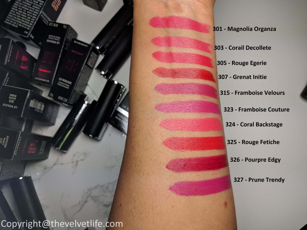 Givenchy Le Rouge Lipstick - Review and Swatches