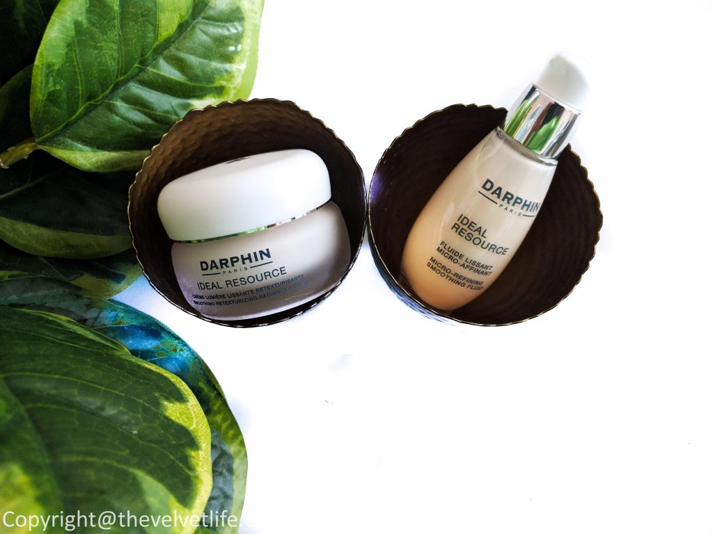 Darphin Ideal Resource Micro-Refining Smoothing Fluid and Darphin Ideal Resource Smoothing Retexturizing Radiance Cream