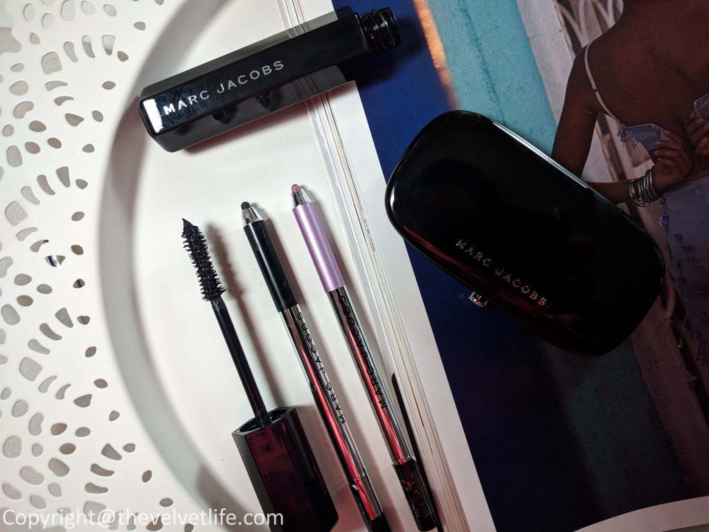 Marc Jacobs Velvet Noir Major Volume Mascara, Marc Jacobs Highliner - Gel Eye Crayon in 82 Femme (Violet) and 42 Blacquer