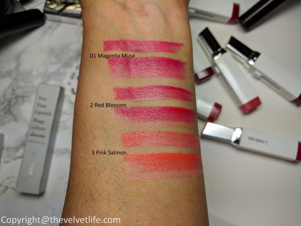 laneige two tone lipstick review swatch
