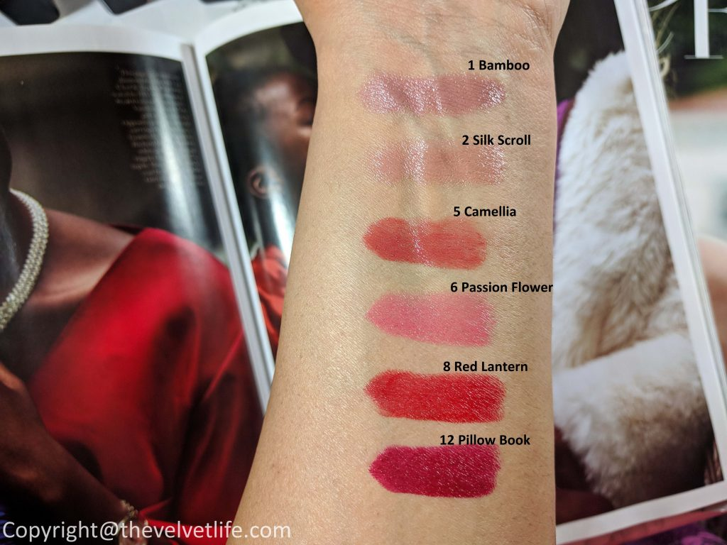 review and swatches of Clé de Peau Beauté Rouge À Lèvres Lipstick