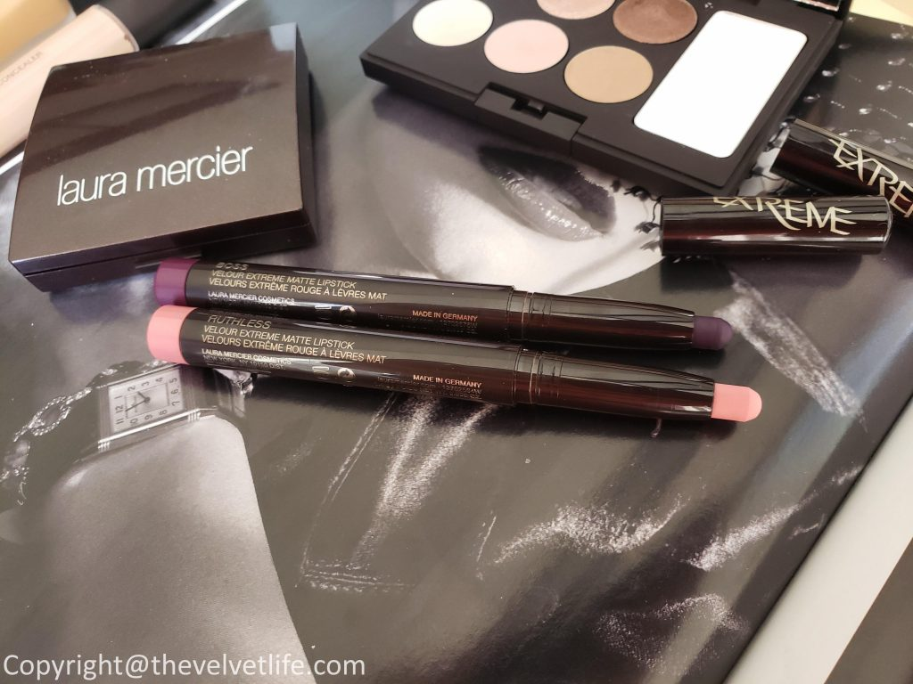 Laura Mercier Boheme Chic Eye Palette, Laura Mercier Flawless Fusion Ultra-long wear concealer, Laura Mercier Velour Extreme Matte Lipstick