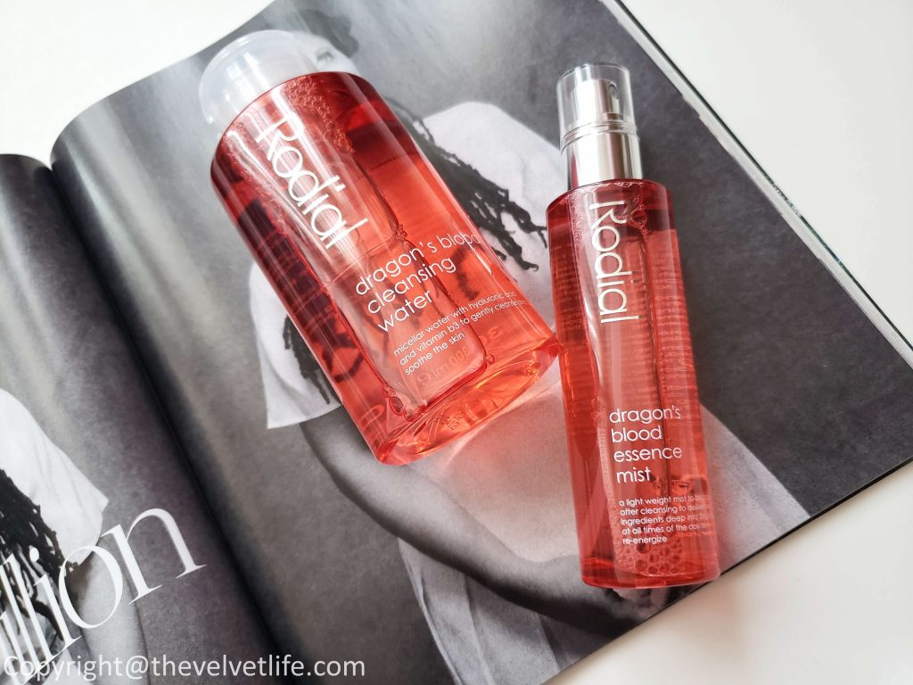 Rodial Dragon's Blood Cleansing Water and Rodial Dragon's Blood Essence Mist