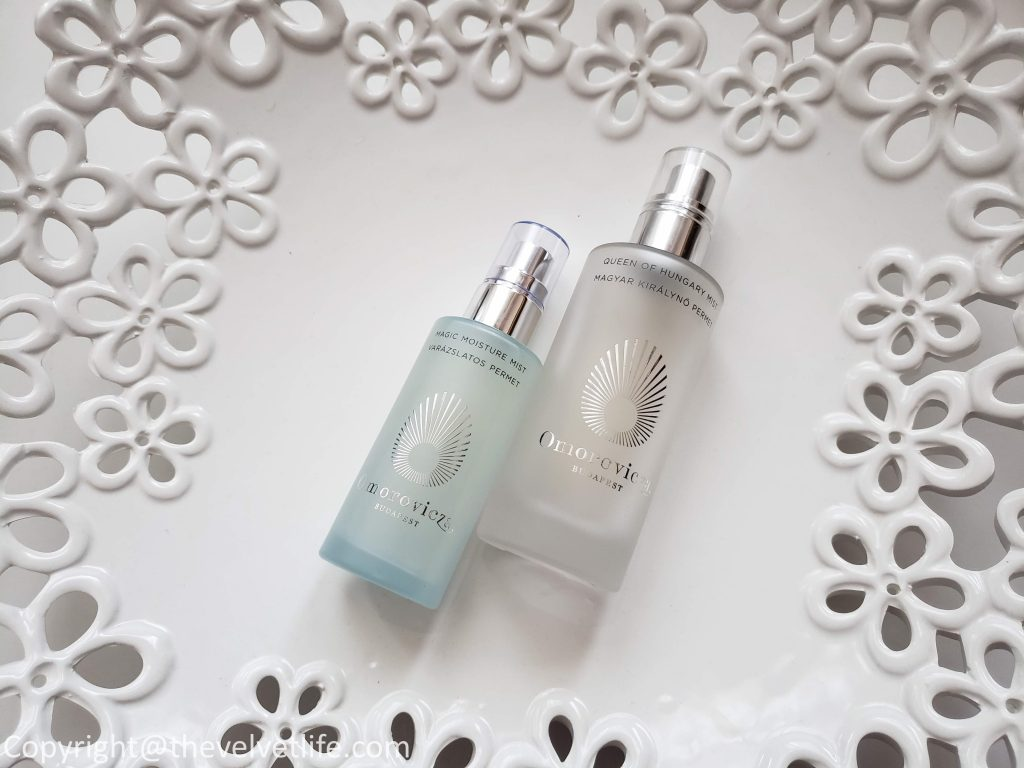 Omorovicza Cashmere Cleanser, Hydra Melting Cleanser, Magic Moisture Mist, and Oxygen Booster