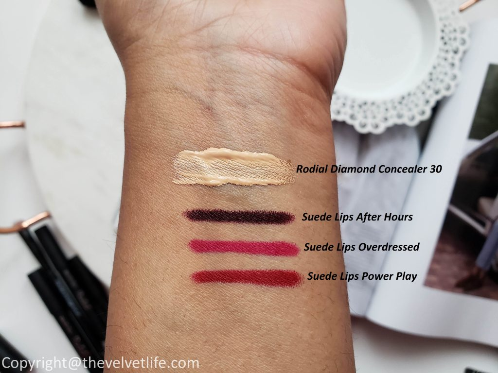 Rodial Diamond Concealer, Rodial Suede Lips, and Rodial Eyeshadow Palette