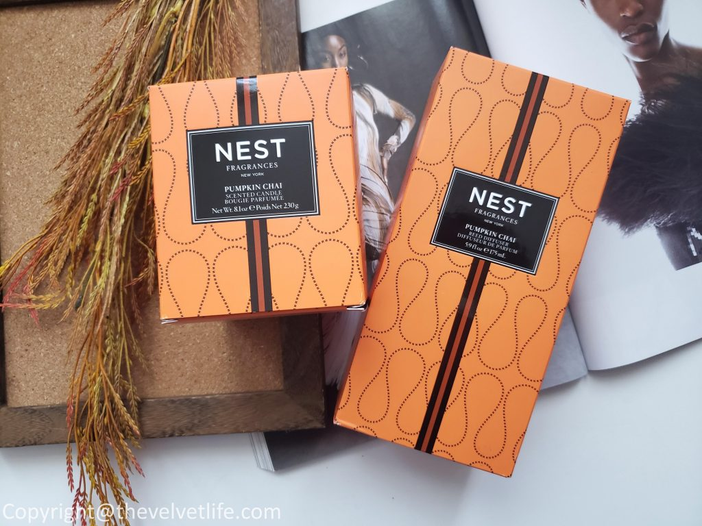 Nest Fragrances Pumpkin Chai Scented Candle and Nest Fragrance Pumpkin Chai Reed Diffuser