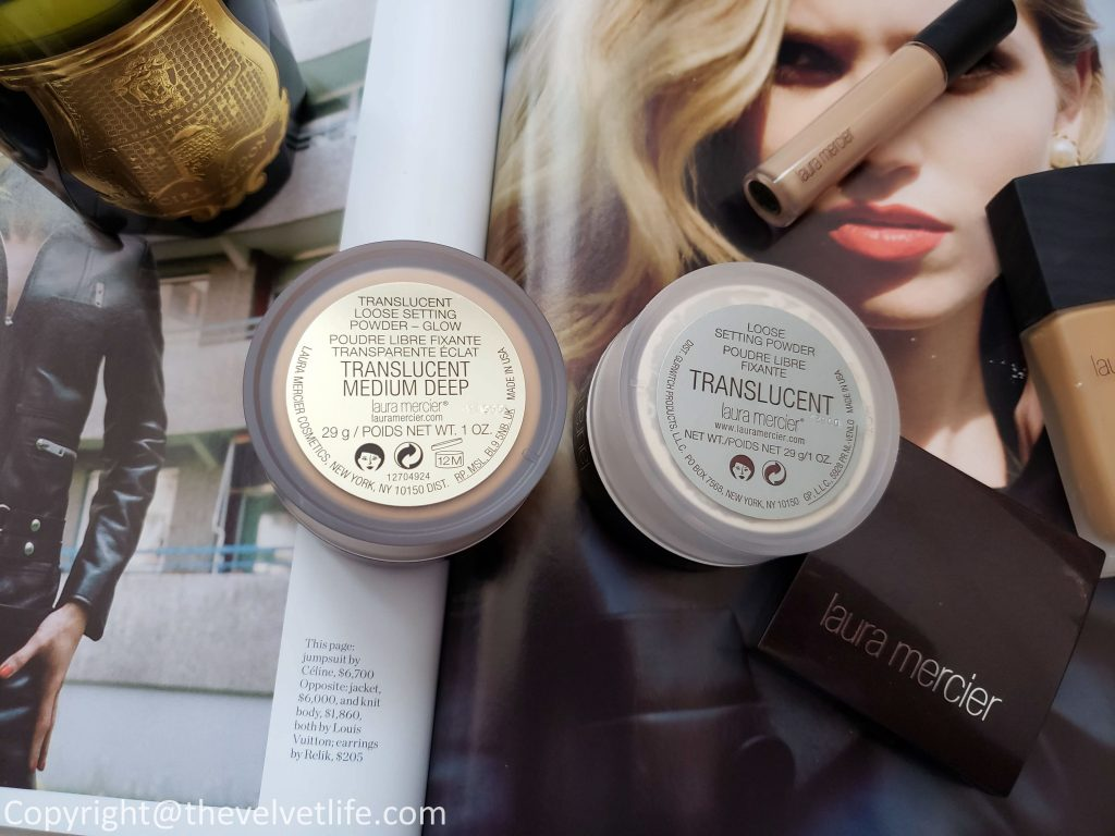 Laura Mercier Translucent Loose Setting Powder - Glow and Laura Mercier Glow Powder Brush