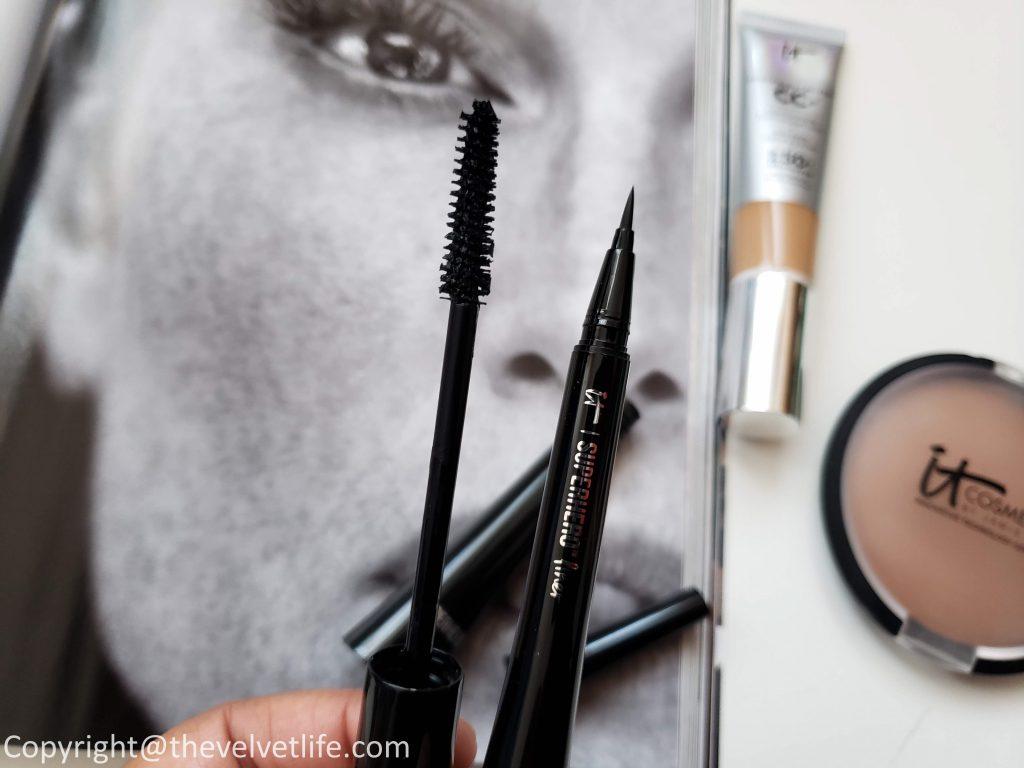 IT Cosmetics Superhero Mascara and IT Cosmetics SuperHero Liner