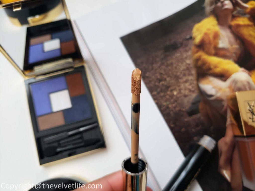 Yves Saint Laurent Le Compact Encre de Peau, Couture Palette Collector Yconic Purple, All Hours Concealer Encre de Peau, Dessin Des Levres, Tatouage Couture Metallics review swatches