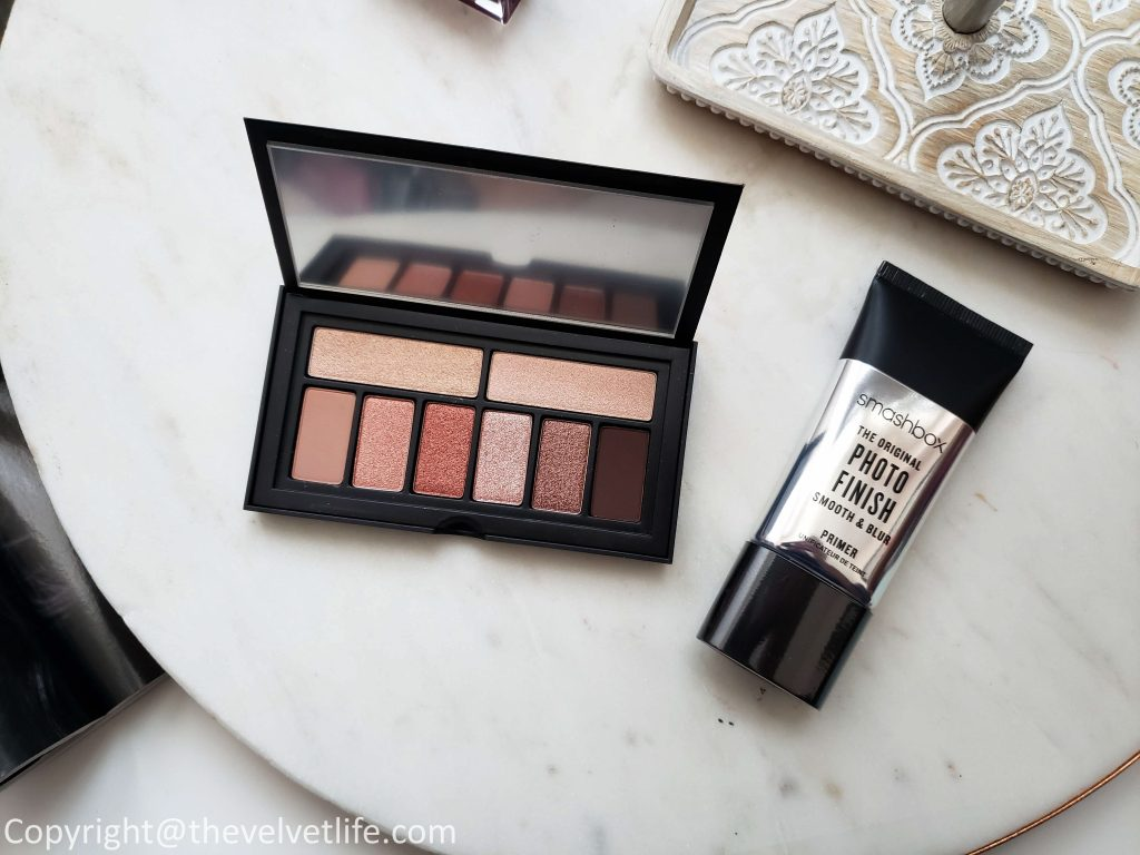 Smashbox Photo Finish Foundation Primer review, Cover Shot Eye Palette in Petal-Metal, and Smashbox Always On Liquid Lipstick swatches