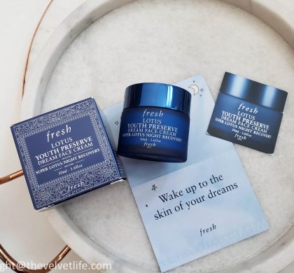 Fresh Lotus Youth Preserve Dream Night Cream – New Launch