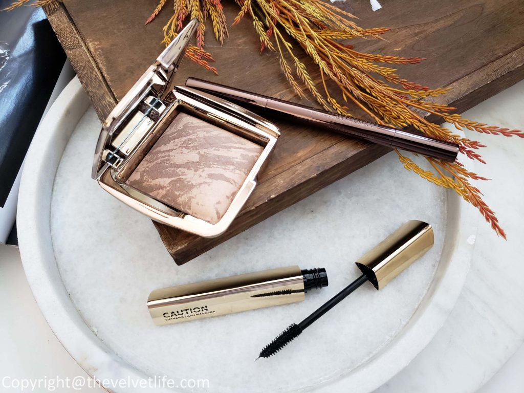 Hourglass Caution Extreme Lash Mascara, Arch Brow Sculpting Pencil, and Ambient Lighting Bronzer