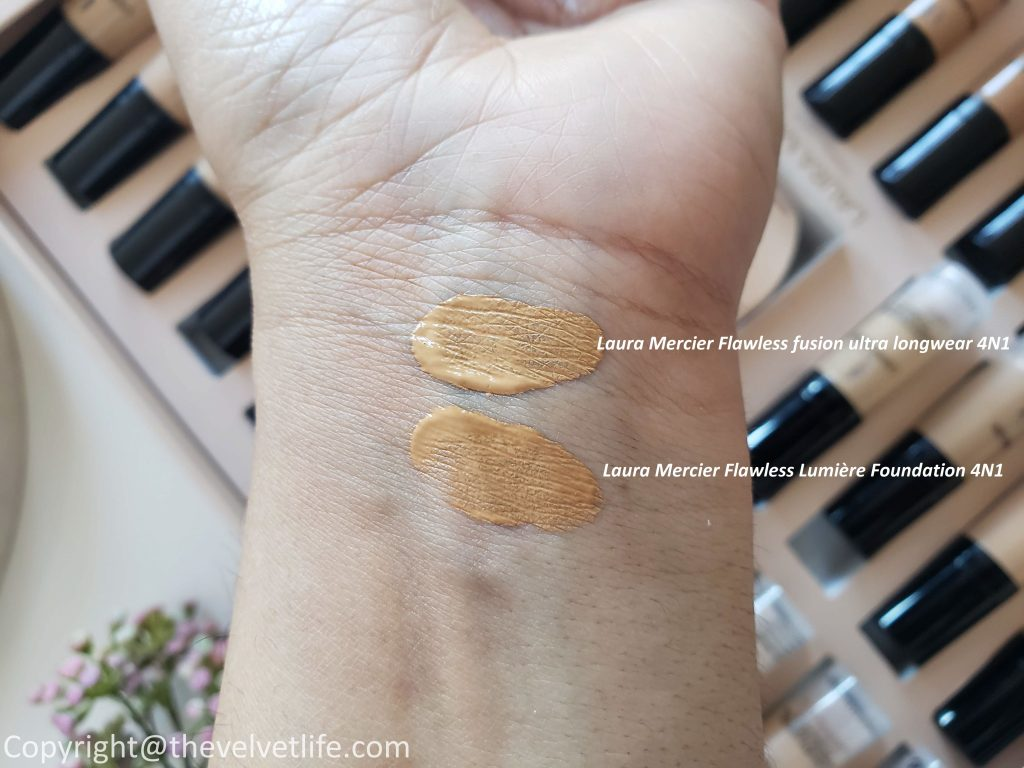 Laura Mercier Flawless Lumière Radiance-Perfecting Foundation vs ultra long wear