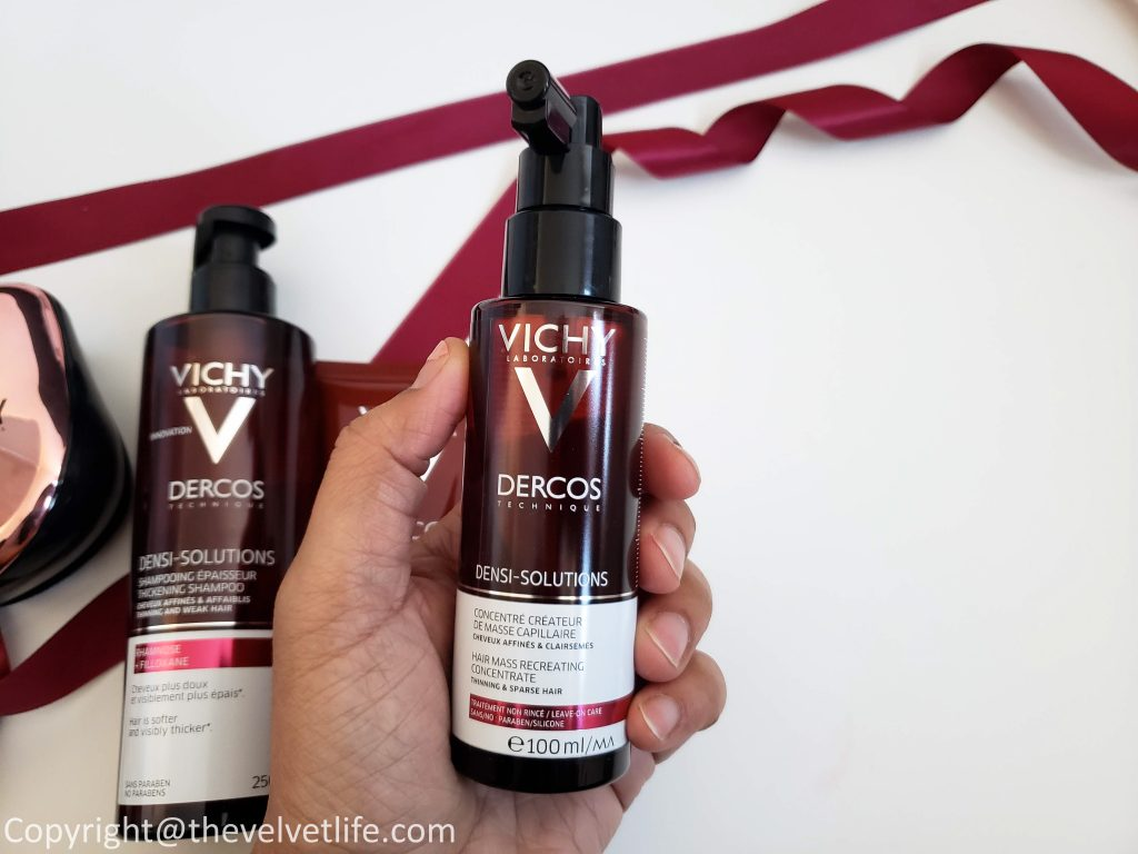 Vichy Dercos Densi-Solutions Thickening Shampoo, Densi-Solutions Fortifying Thickening Balm, Dercos Densi-Solutions Hair Mass Thickening Concentrate