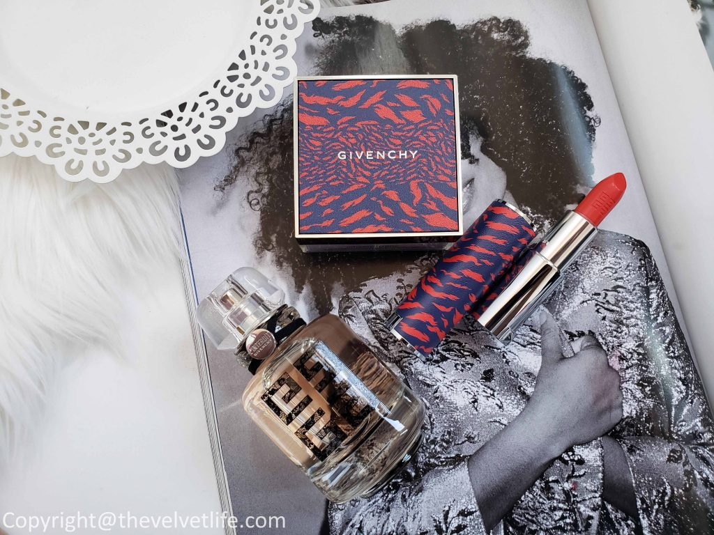 Givenchy Couture Edition 2019 Le Rouge and Prisme Libre, Le Rouge No 304 Mandarine Bolero , L'Interdit Couture Edition Eau de Parfum