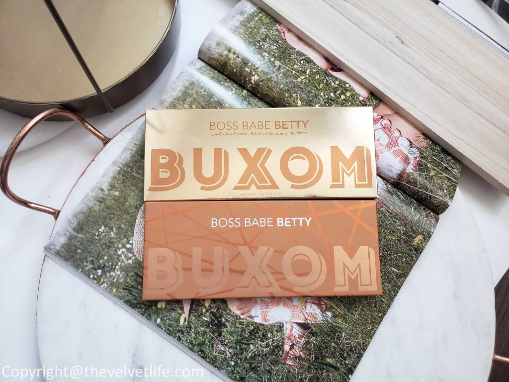 Buxom Boss Babe Betty Eyeshadow Palette review swatches