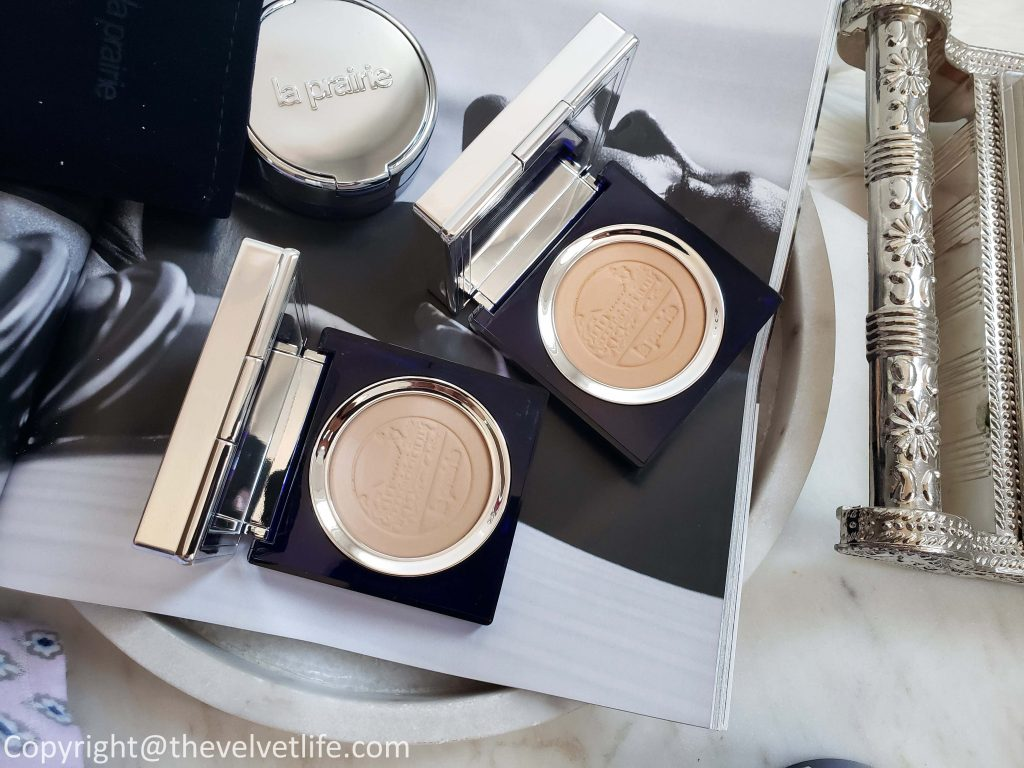 Review and swatches of the new La Prairie Skin Caviar Loose Powder & La Prairie Skin Caviar Powder Foundation