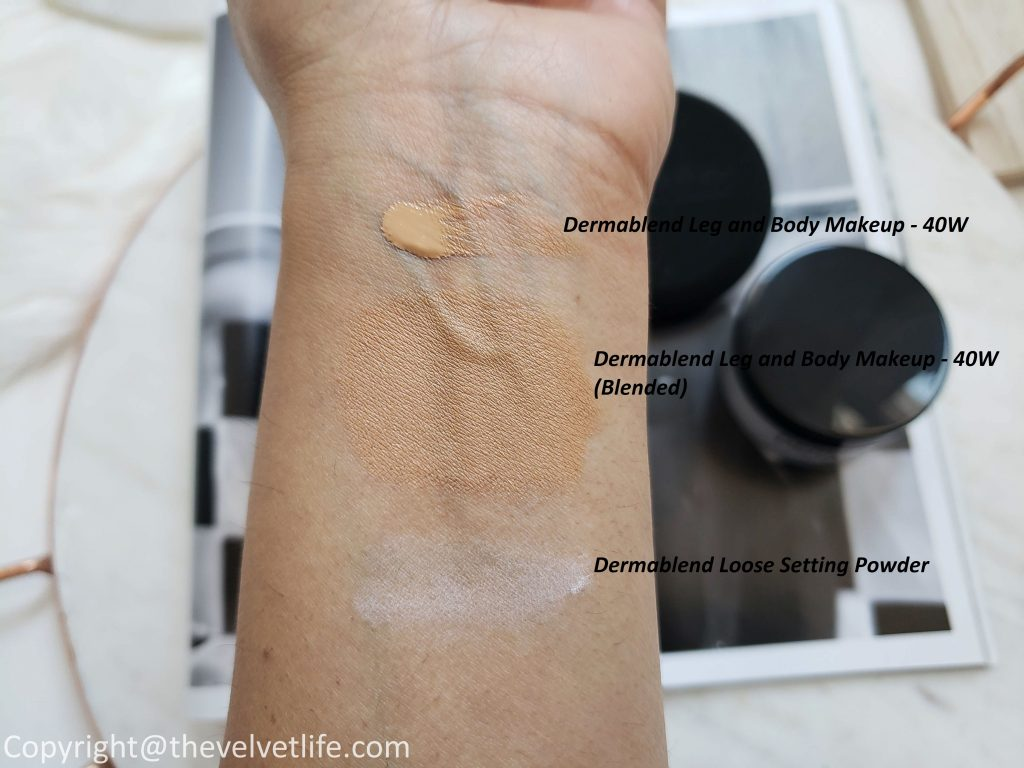 Dermablend leg and body makeup foundation review and swatches