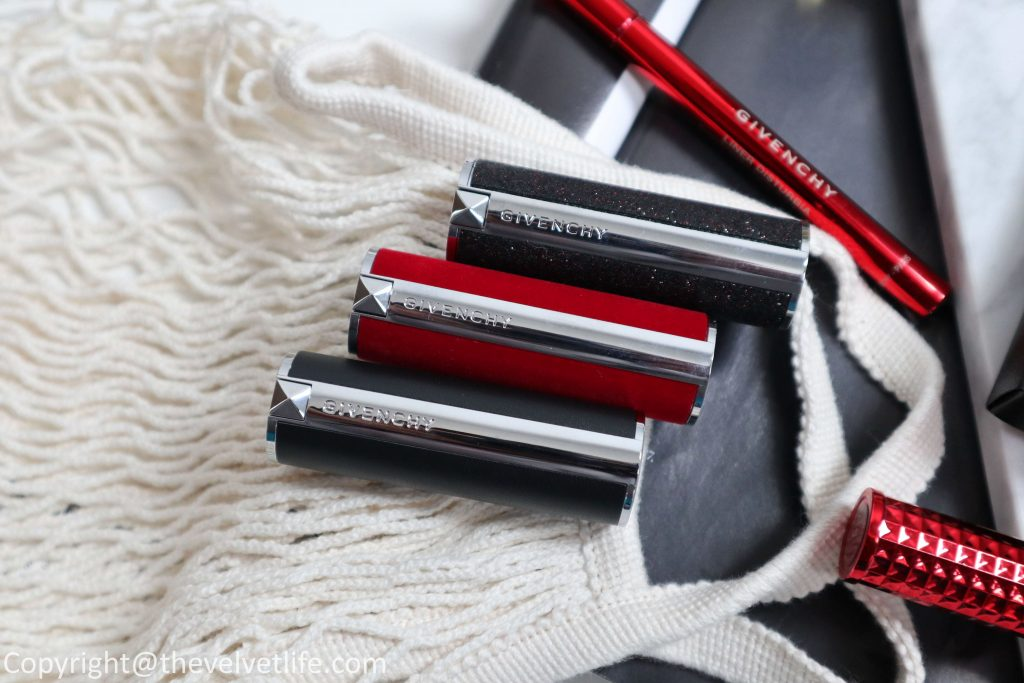 new Review and swatches of new couture Givenchy Le Rouge, Le Rouge Deep Velvet, and Le Rouge Night Noir review swatches