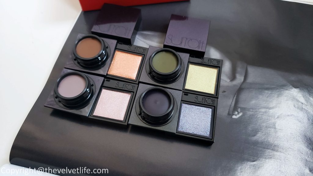 Review and swatches of the new Surratt Beauty - Dew Drop Foundation and Prismatique eyes eyeshadows