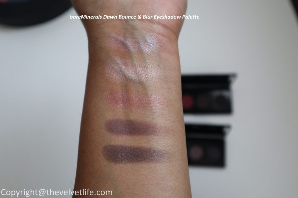 New bareMinerals Bounce & Blur Collection - review and swatches of full collection - 2 eyeshadow palettes in dusk and dawn, 4 blushes