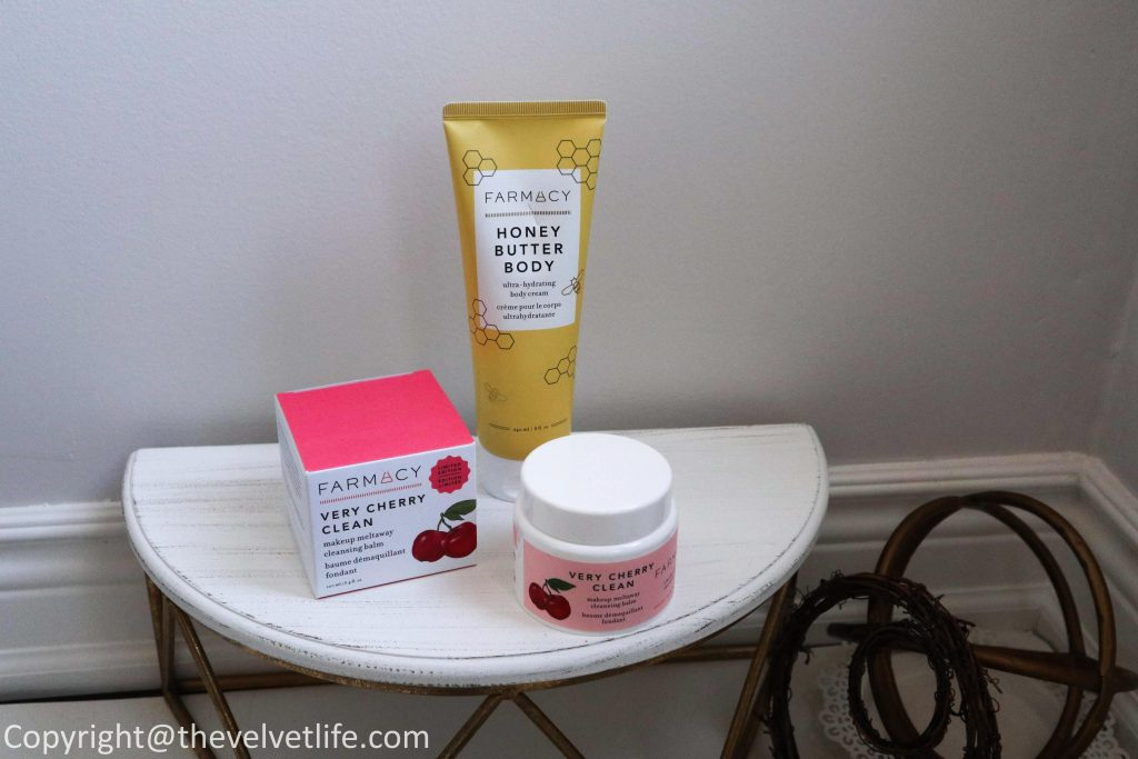 New Farmacy Beauty Very Cherry Clean Cleansing Balm and Honey Body Butter review