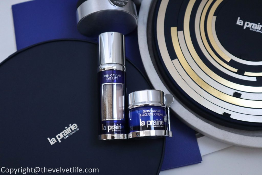Review of new La Prairie Skin Caviar Eye Lift and reformulated Skin Caviar Luxe Eye Cream