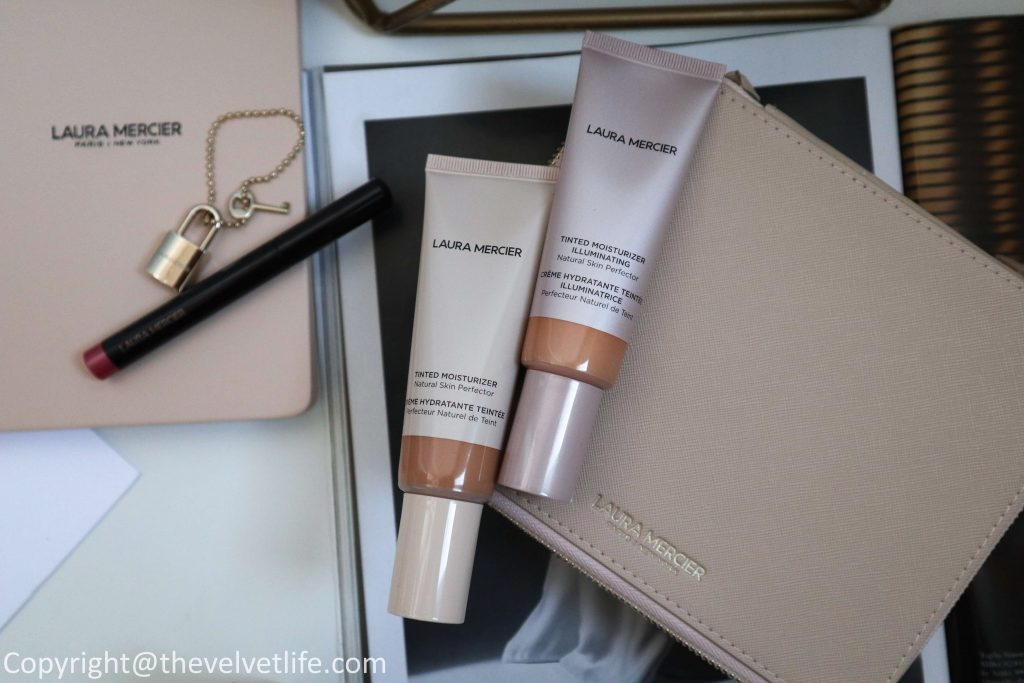 New Laura Mercier Tinted Moisturizer Illuminating, Tinted Moisturizer Natural Skin Perfector review swatches Velour Extreme Matte Lipstick