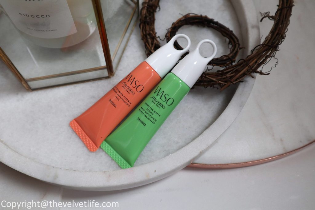 New Shiseido Waso Eye Opening Essence and Poreless Matte Primer - review