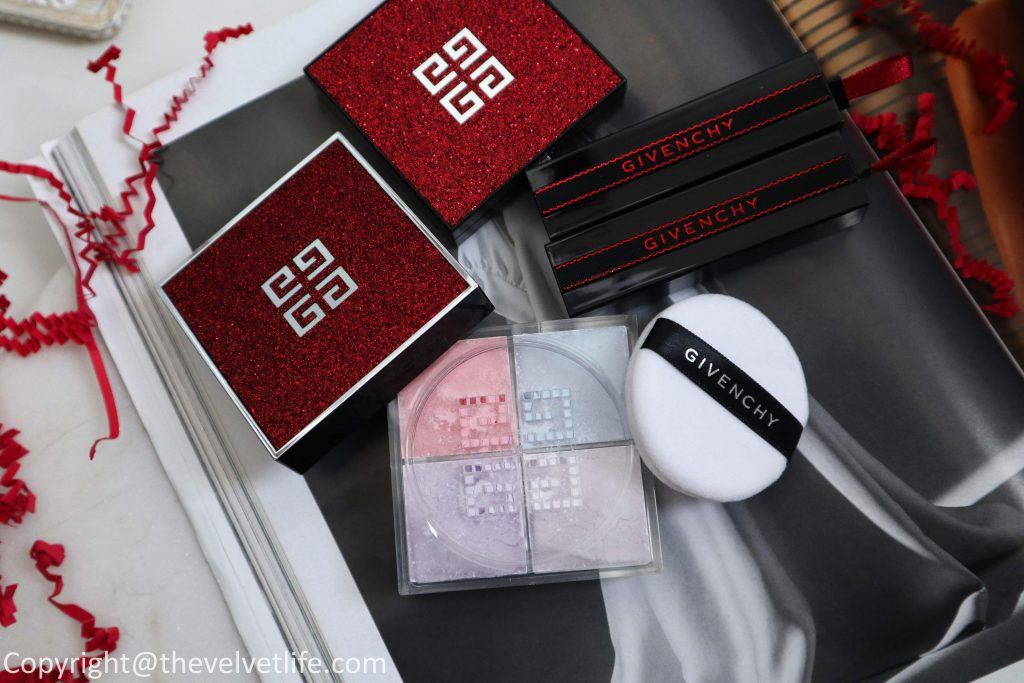 Givenchy Red Line Collection - Holiday 2019 review and swatches of the limited edition Red Lights Palette, Rouge Interdit, Prisme Libre