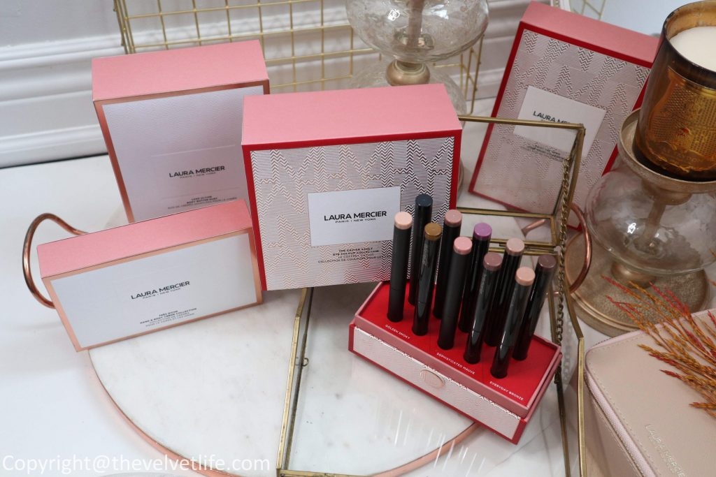 Laura Mercier Holiday 2019 Collection review swatches The Caviar Vault Eye colour Collection, Paint The Town Luxe Brush Collection, Très Rich Hand & Body Crème Collection, Très Rich Hand & Body Crème Collection