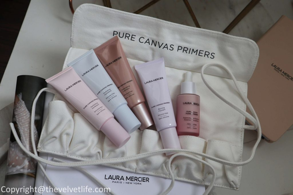 Laura Mercier Pure Canvas Primer Collection new review Supercharged Essence, Pure Canvas Primer Blurring, Illuminating, Hydrating, and Perfecting original