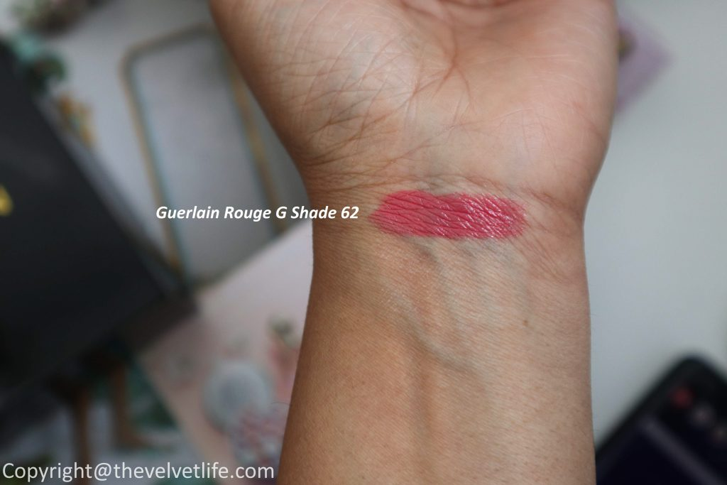 Guerlain Cherry Blossom Spring Collection 2020 review swatches Guerlain Meteorites Happy Glow, Guerlain Rouge G Lipstick 61, 62, Abeille Royale Youth Watery Oil