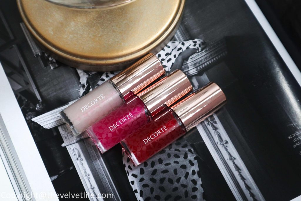 Decorte Lip Oil review swatches new