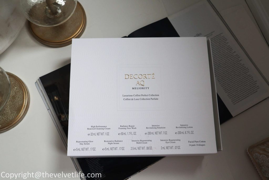 Decorte Limited Edition AQ Meliority Luxurious Coffret review new limited edition