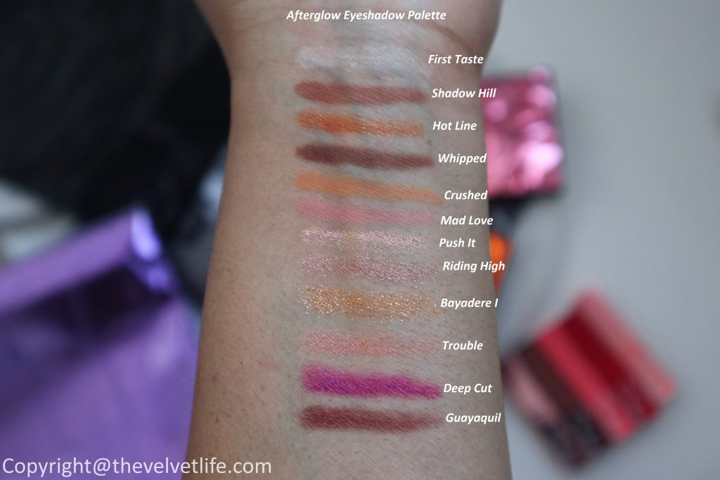 New Nars Afterglow Collection spring 2020 review swatches of Afterglow Eyeshadow Palette, Afterglow Overlust Cheek Palette, and Afterglow Lip Balm