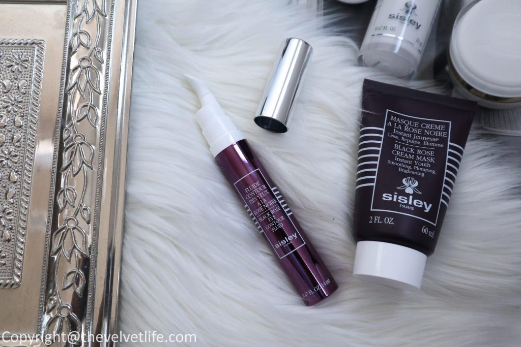 New Sisley-Paris Black Rose Eye Contour Fluid review and Black Rose Cream Mask