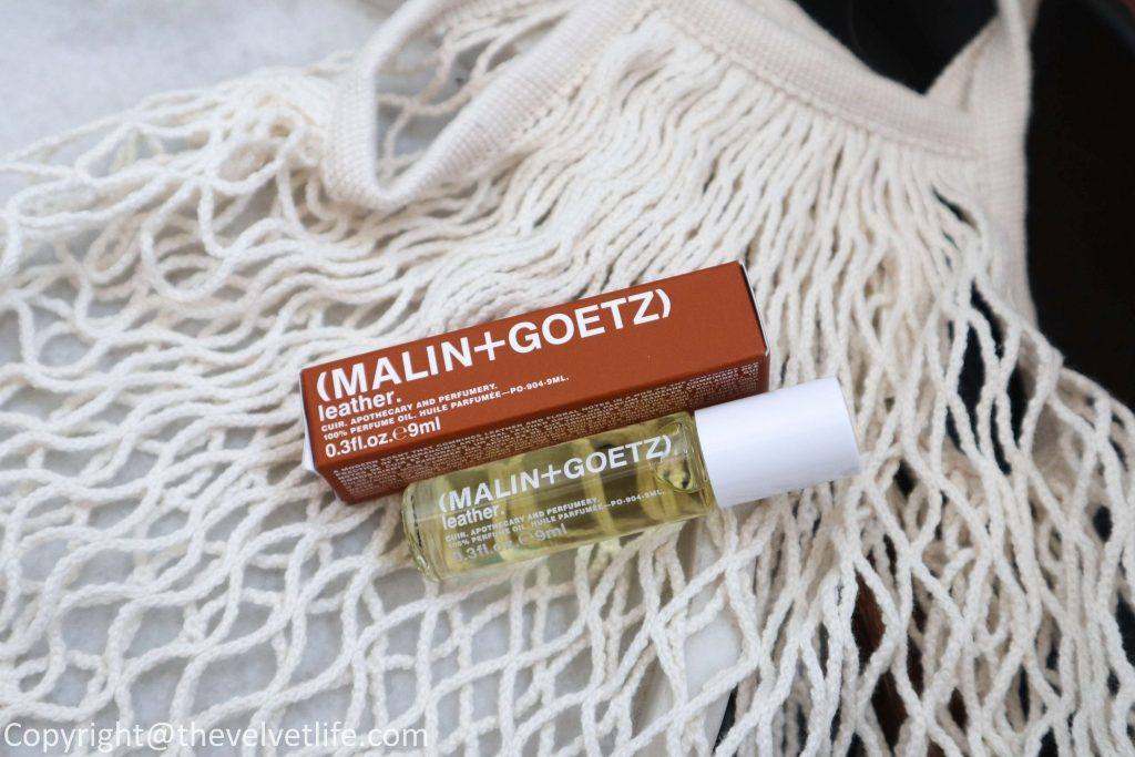 MALIN+GOETZ  review new Peppermint Shampoo, Cilantro Hair Conditioner, Bergamot Hand + Body Wash,  Eucalyptus Deodorant, Vitamin E Face Moisturizer and Grapefruit Face Cleanser, Leather Perfume Oil