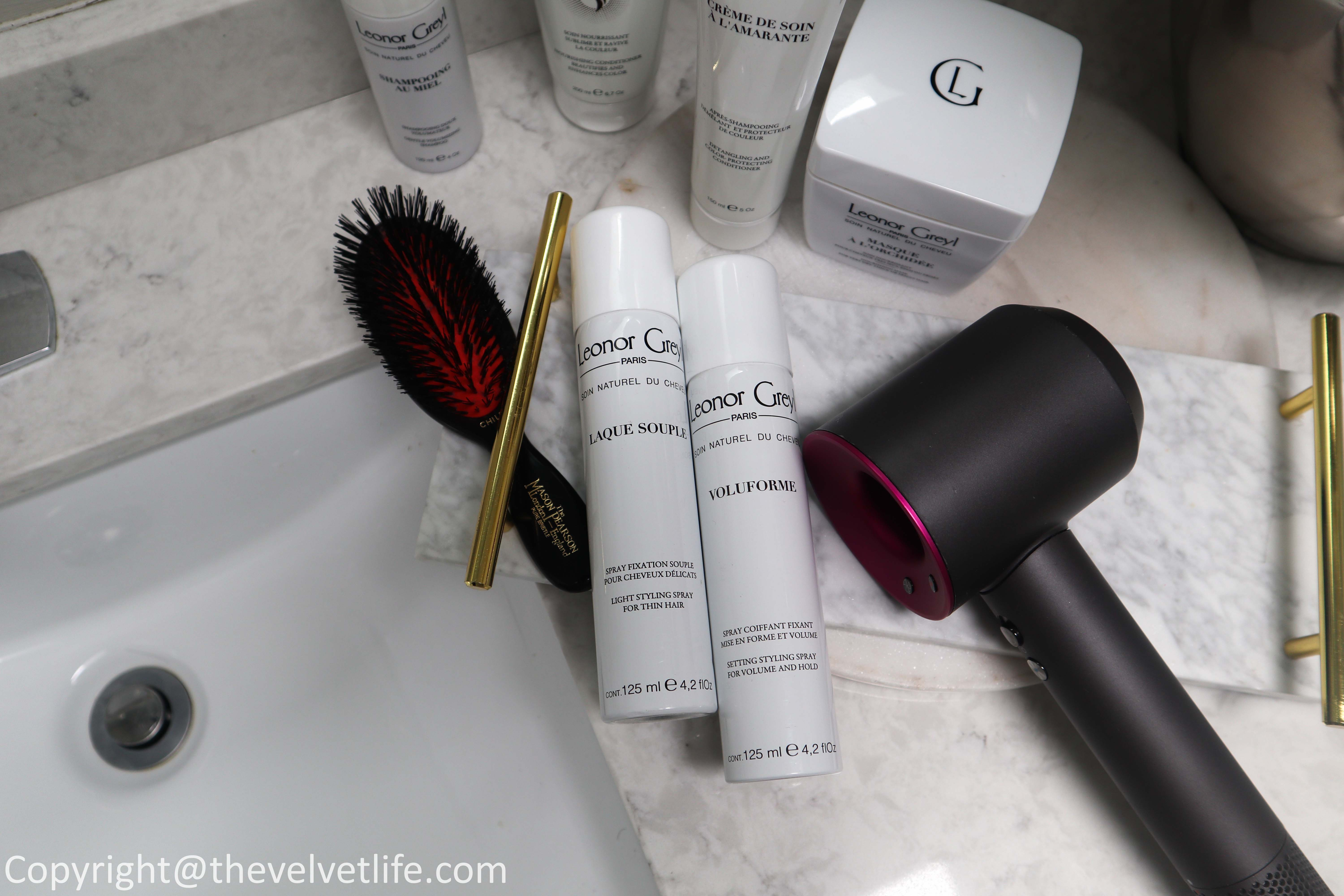 Review of new Leonor Greyl Paris Crème de Soin à l'Amarante, Voluforme, Soin Repigmentant, Shampooing au Miel, Laque Souple