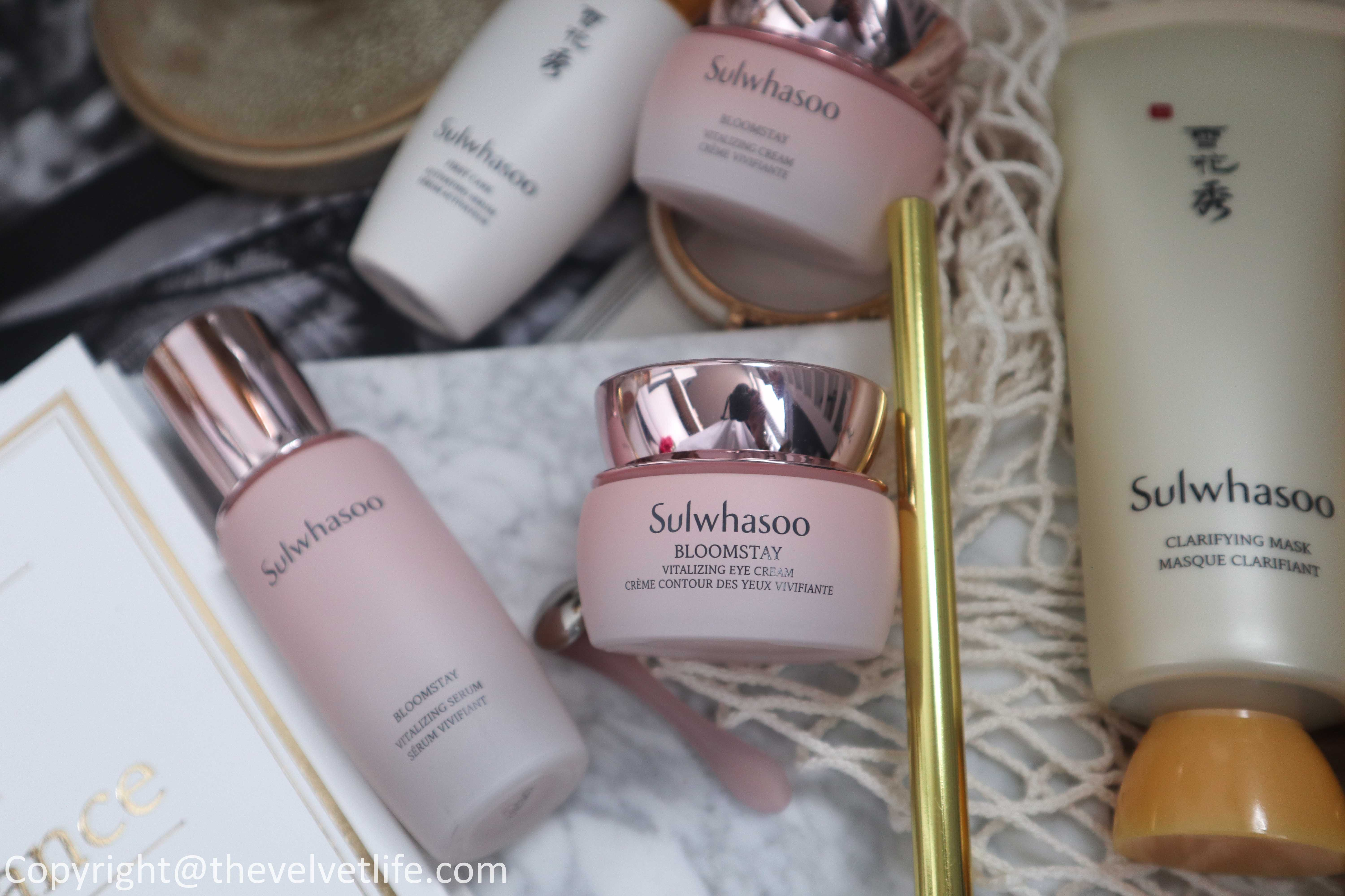 Review of new Sulwhasoo Bloomstay Vitalizing Eye Cream, Clarifying Mask, Overnight Vitalizing Mask
