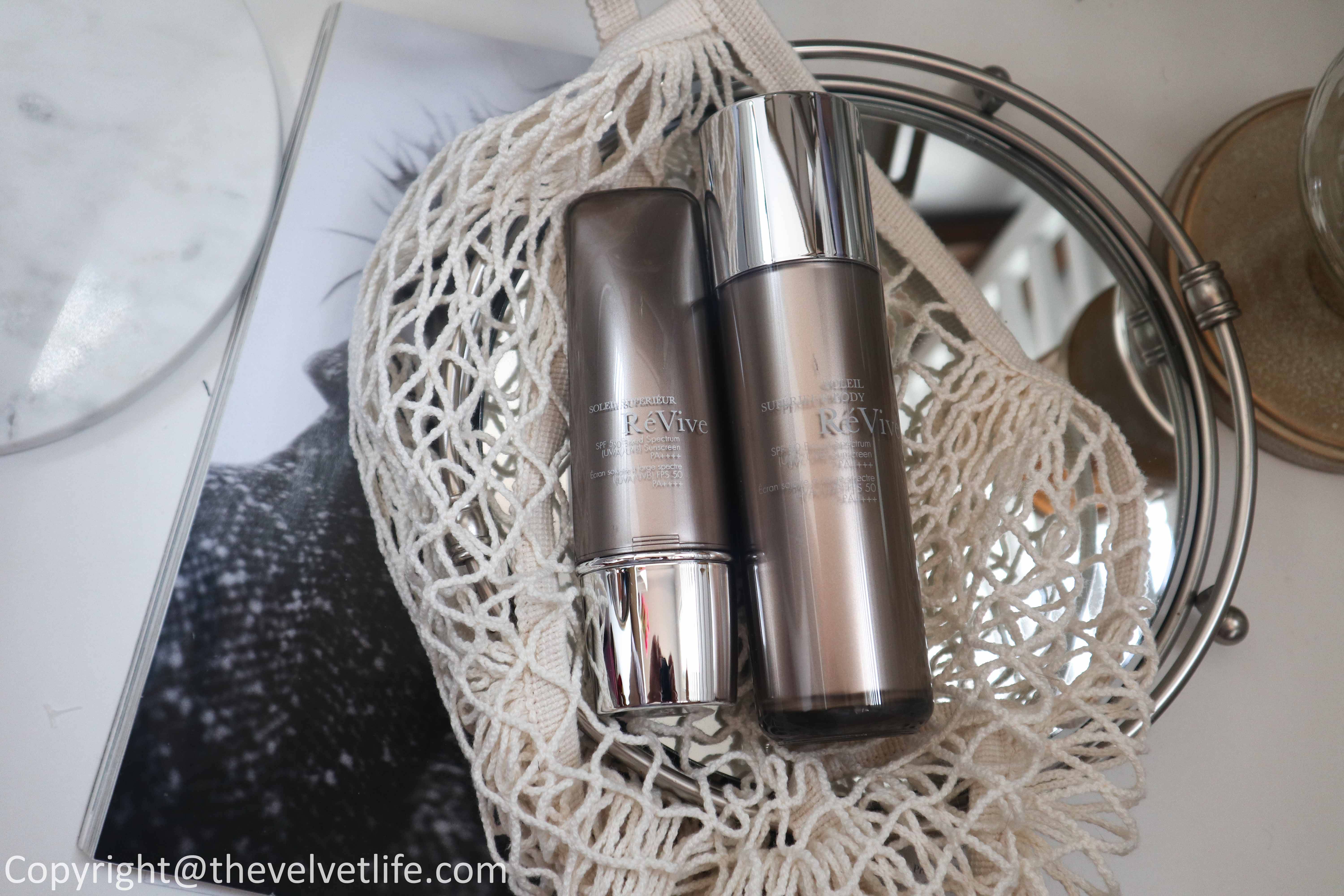 Review of new ReVive Skincare Glow Elixir Hydrating Radiance Oil, Soleil Superieur Broad Spectrum SPF 50 Sunscreen PA ++++ , Soleil Superieur Body, Perfectif Even Skin Tone Cream, Defensif Environmental Antioxidant Booster, Masque de Radiance