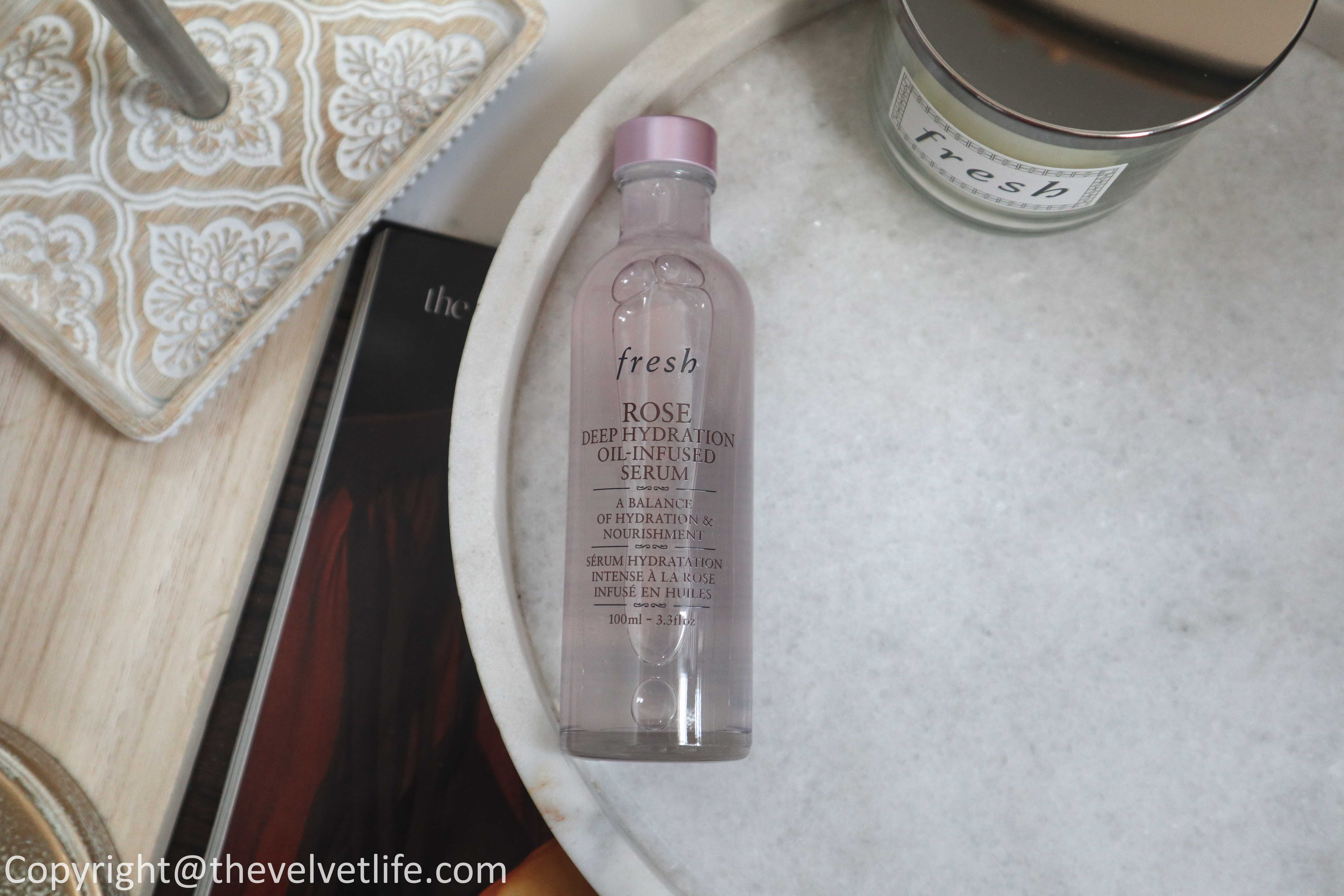 Review of Fresh Black Tea Instant Perfecting Mask, Soy Cleanser, Rose Deep Hydration Oil-Infused Serum, Sugar Strawberry Exfoliating Face Wash, Brown Sugar Body Polish Exfoliator, Black Tea Antioxidant Body Cream