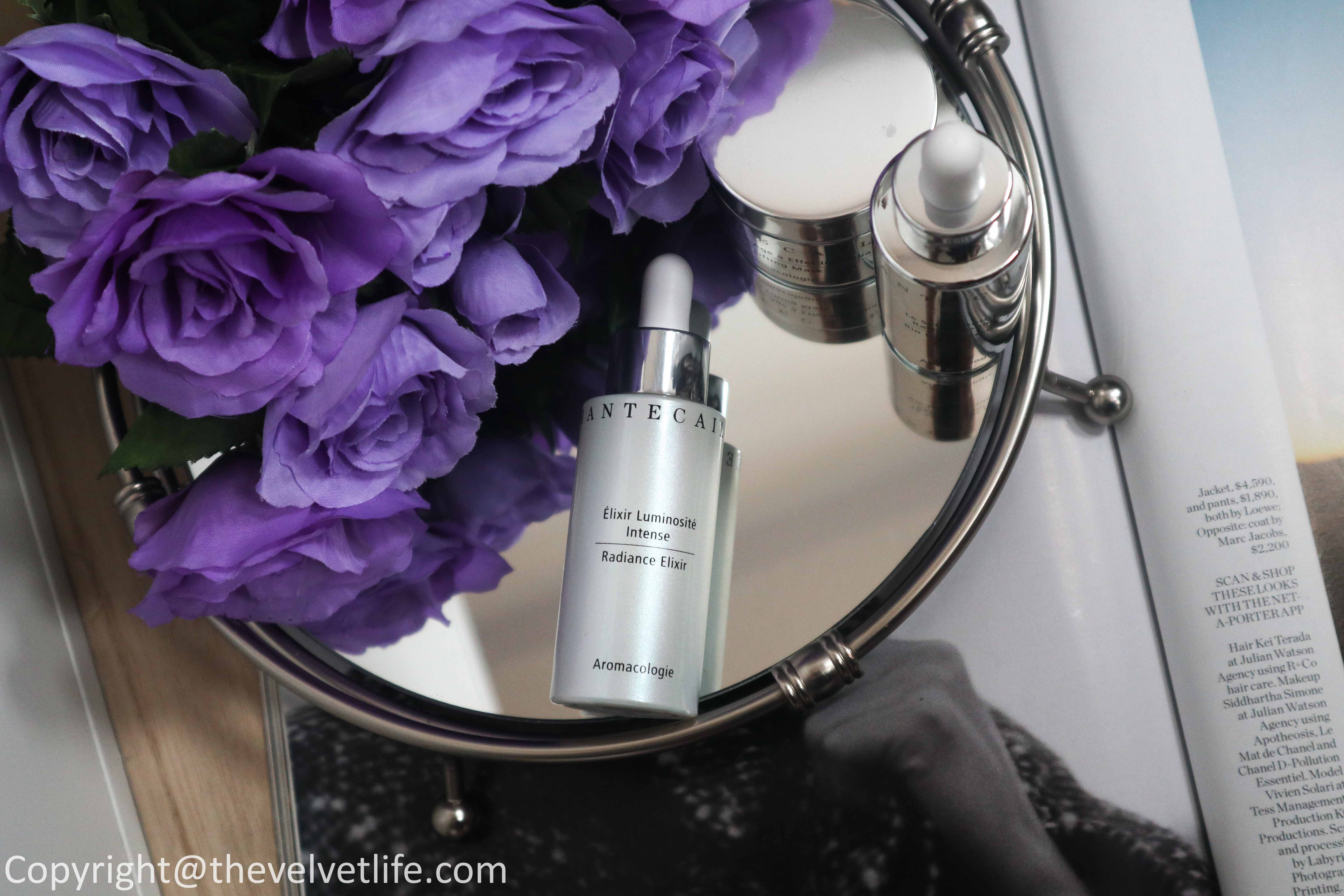 Chantecaille Radiance Elixir review new launch, Pure Rosewater, Ultra Sun Protection Sunscreen Broad Spectrum SPF 45 Primer