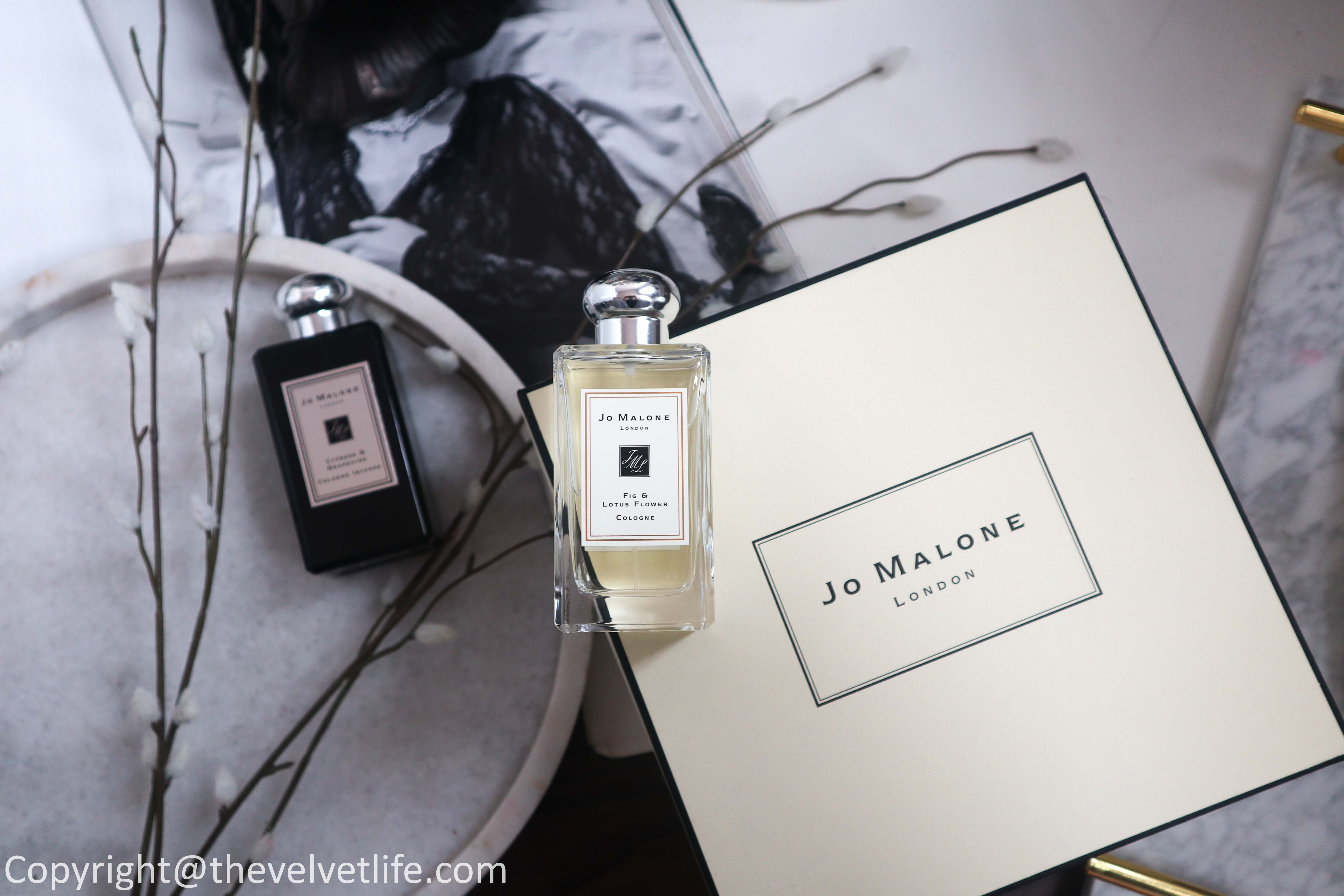 New Jo Malone Lost in Wonder cologne collection with new fragrances Fig & Lotus Flower and Cypress & Grapevine review