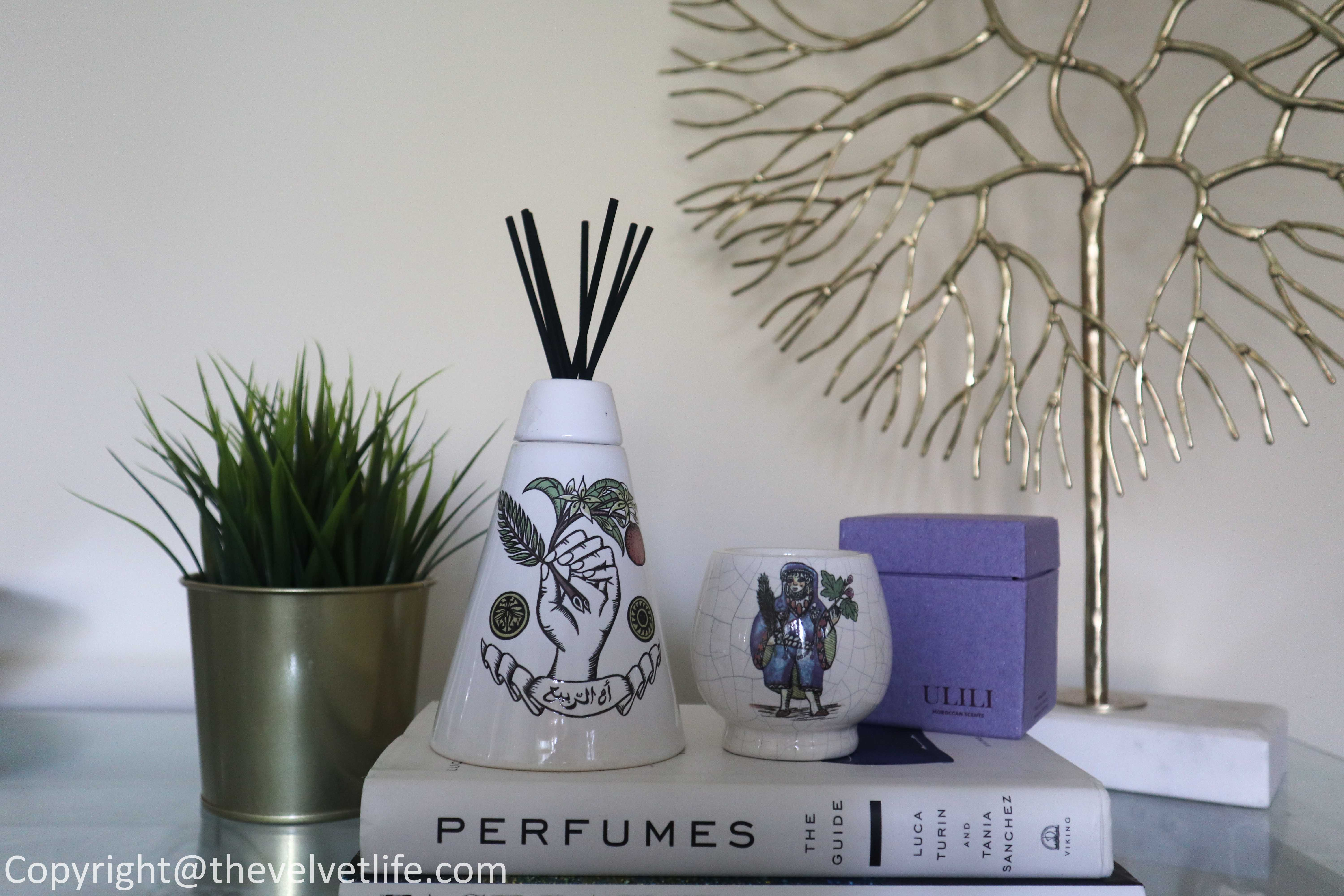 Ulili Moroccan Scents review Diffuser Oum Rabie and Candle Tazarine