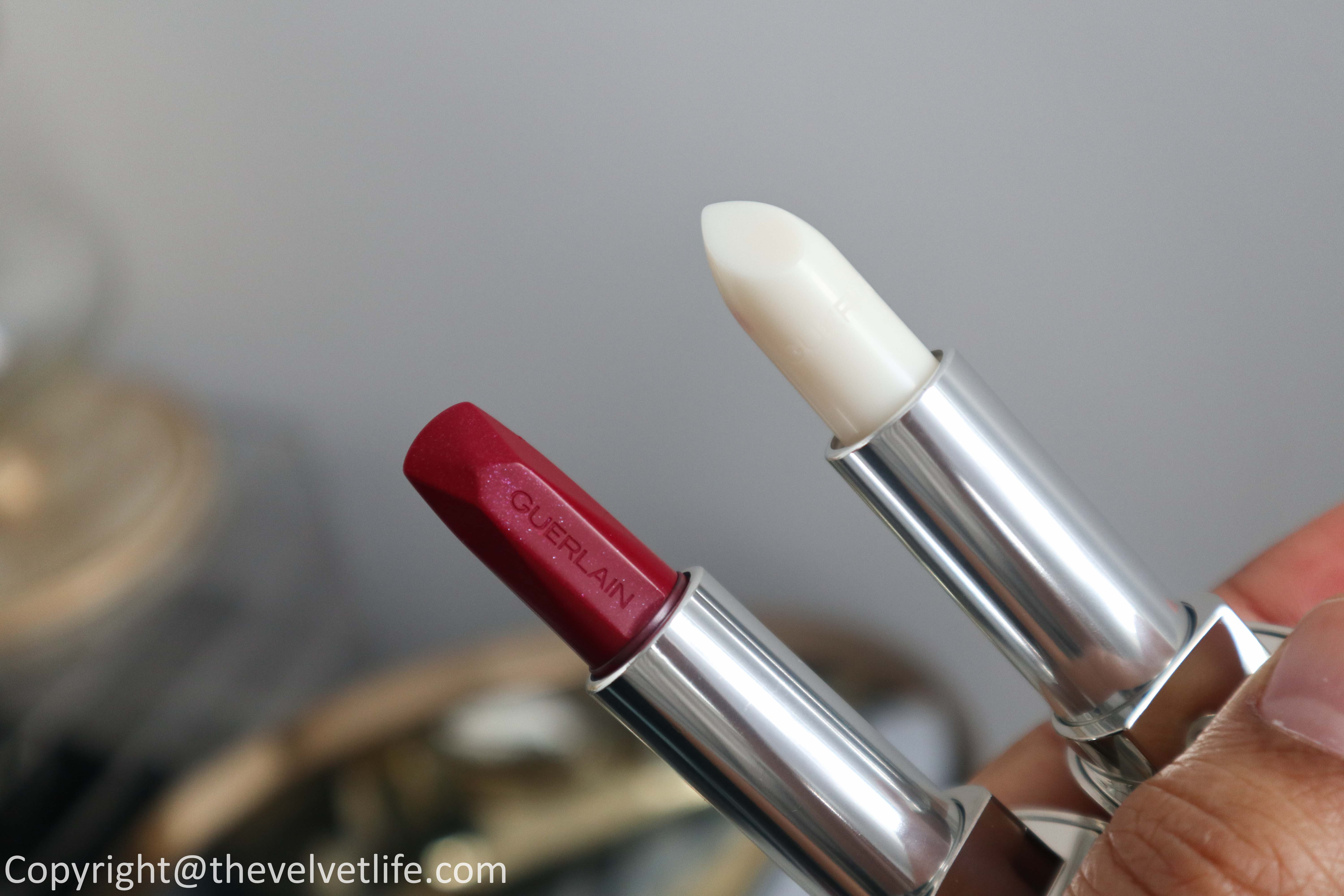 Guerlain Golden Bee Holiday 2020 collection review swatches of Golden Bee Palette, Meteorites Golden Bee, Rouge G lipstick